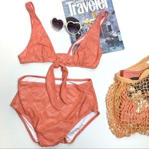 ASOS | Orange crochet high waist bikini | 6